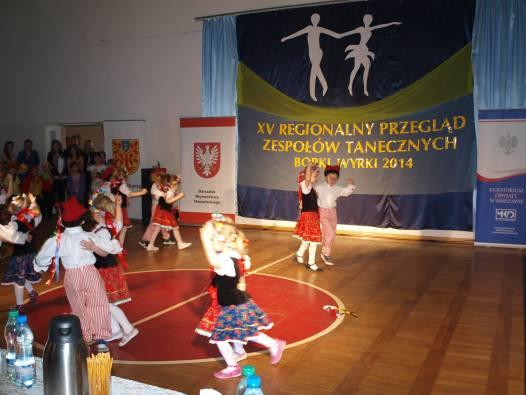 XV Regionalny Przegląd Amatorskich Zespołów Tanecznych w Borkach Wyrkach