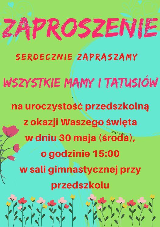 Zaproszenie na Dzień Rodziny