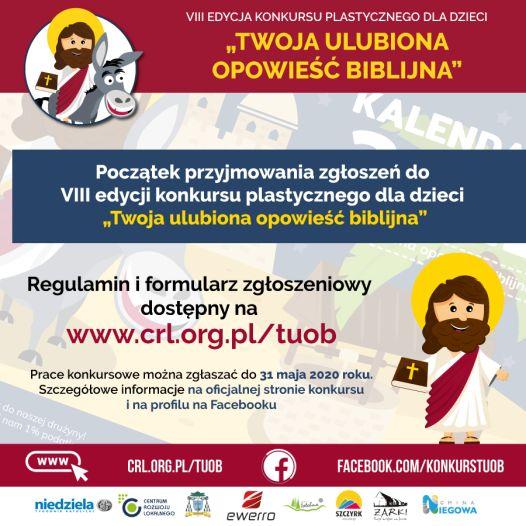 """Ogólnopolski konkurs plastyczny pn. """"Twoja ulubiona opowieść biblijna"""""""