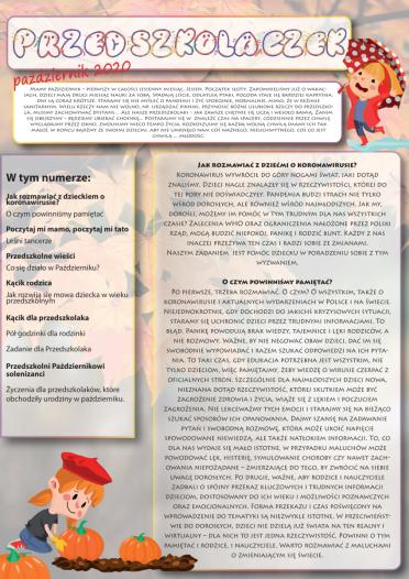 """Nowy numer gazetki """"Przedszkolaczek"""""""