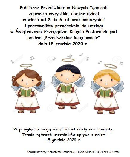 """Przegląd Kolęd i Pastorałek """"Przedszkolne kolędowanie"""""""