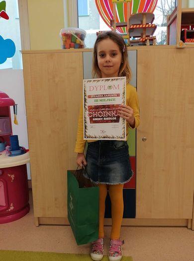 Sukcesy naszych przedszkolaków w Gminnym Konkursie na Ozdobę choinkową GOK